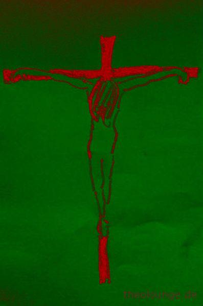 frau-kreuz farbig grün