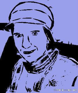 Mandy Frau Punk blue