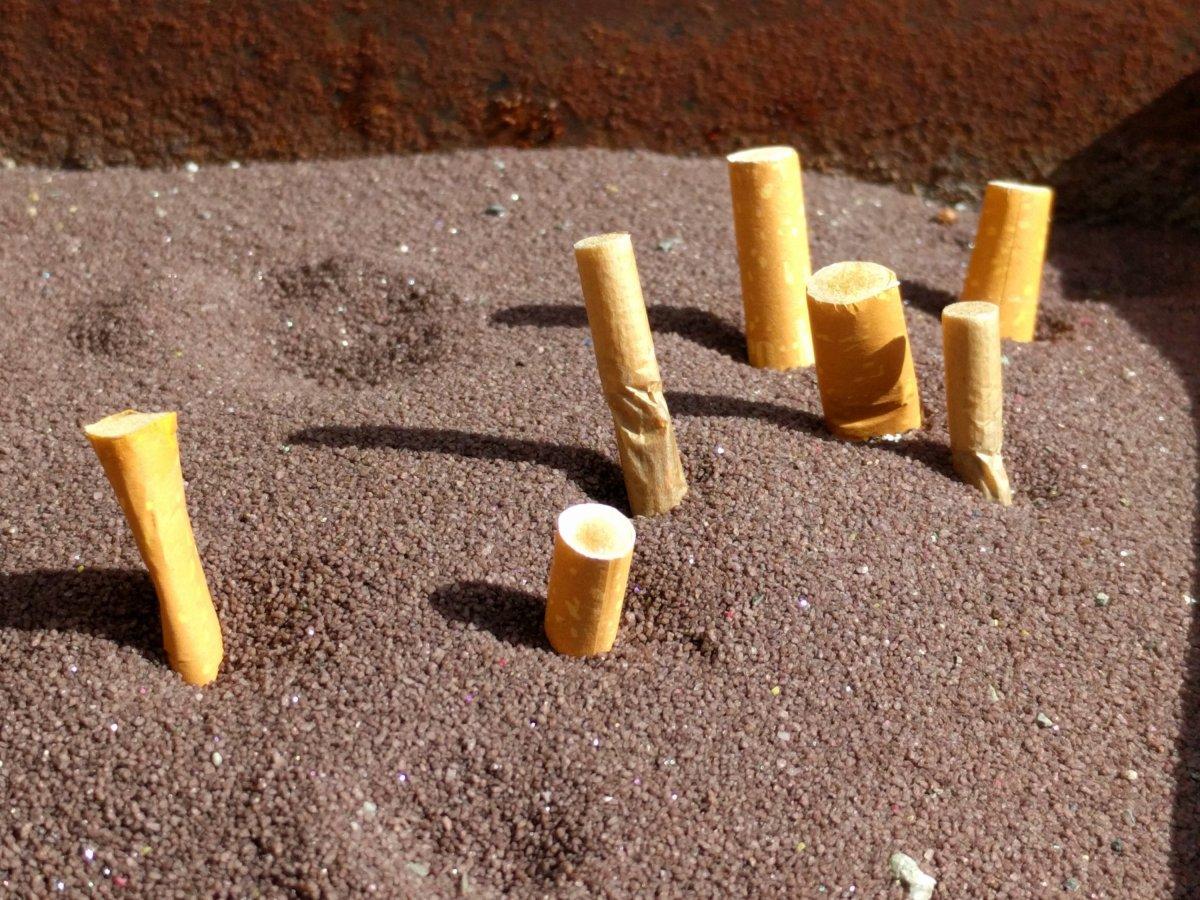 Werbung für Winston-Zigaretten. Was sie bezwecken soll.